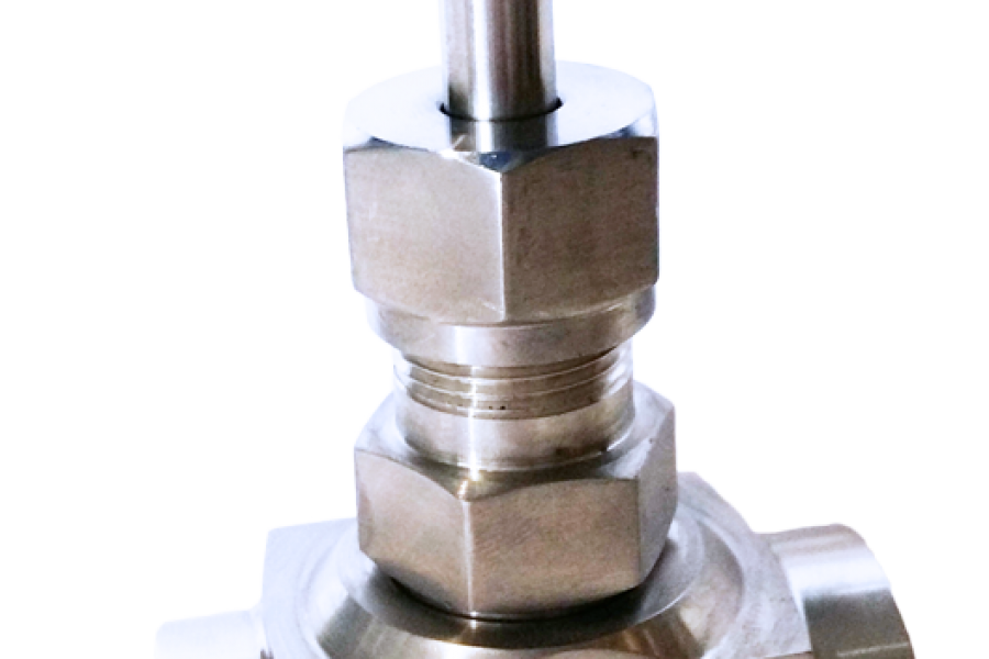 Zawór iglicowy jako urządzenie do regulacji w połączeniach rurowych